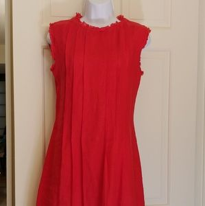 Pepito's Positano Red Linen Italian dress Sz S NWT